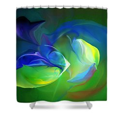 Shower Curtain featuring the digital art Aquatic Illusions by David Lane