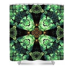 Aquatic Lace 10 Shower Curtain by Shawna Rowe