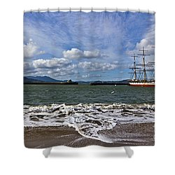 Shower Curtain featuring the photograph Aquatic Park by Kate Brown