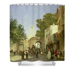 Arab Street Scene Shower Curtain by Honore Boze