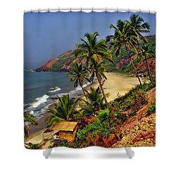 Arambol Beach India Shower Curtain by Anthony Dezenzio