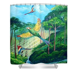 Aras On The Forest Shower Curtain