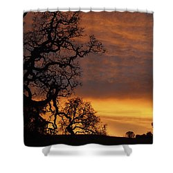 Shower Curtain featuring the photograph Arastradero Open Space Preserve Sunset by Priya Ghose