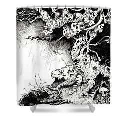 Arbol Shower Curtain