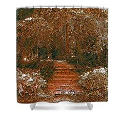 Arbor Steps Shower Curtain by Tim Allen