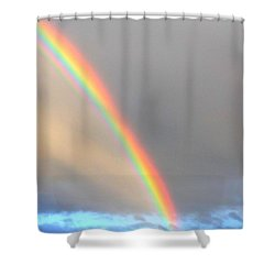 Arc Angle One Shower Curtain by Lanita Williams