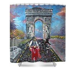 Arc De Triomphe Shower Curtain by Alana Meyers