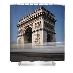 Arc De Triomphe Shower Curtain by Jeremy Voisey