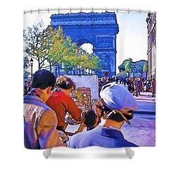 Arc De Triomphe Painter Shower Curtain by Chuck Staley