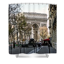 Arc De Triomphe Paris Shower Curtain