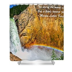 Arc Of The Moral Universe Shower Curtain