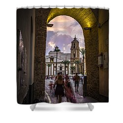 Arc Of The Rose Cadiz Spain Shower Curtain