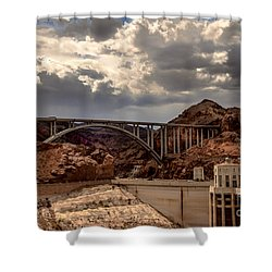 Arch Bridge And Hoover Dam Shower Curtain by Robert Bales