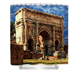 Arch Of Septimius Severus Shower Curtain by Anthony Dezenzio