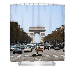Arch Of Triumph In Paris Shower Curtain
