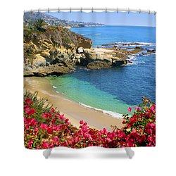Arch Rock And Beach Laguna Shower Curtain