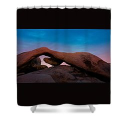 Arch Rock Evening Shower Curtain by Stephen Stookey