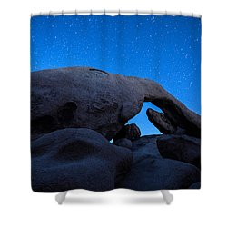 Shower Curtain featuring the photograph Arch Rock Starry Night 2 by Stephen Stookey