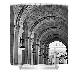 Shower Curtain featuring the photograph Arch Ways At Union Station by John S
