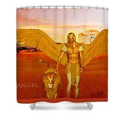 Archangel Ariel Shower Curtain