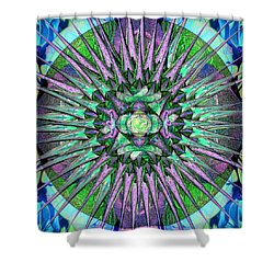 Archangels Gather Mandala Shower Curtain