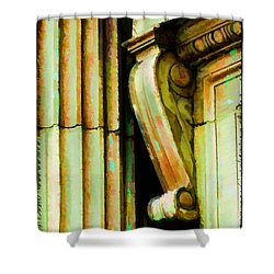 Archatectural Elements  Digital Paint Shower Curtain by Debbie Portwood