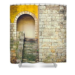 Shower Curtain featuring the photograph Arched Entrance by Silvia Ganora