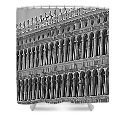 Arches And Columns In Piazza San Marco Shower Curtain by Rita Mueller