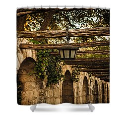 Arches At The Alamo Shower Curtain by Melinda Ledsome