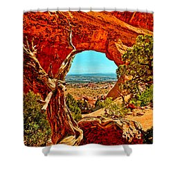 Arches National Park Shower Curtain by Bob and Nadine Johnston