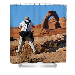 Shower Curtain featuring the photograph Arches Np 27 by Jeff Brunton