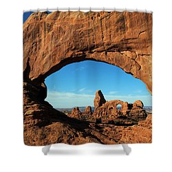 Shower Curtain featuring the photograph Arches National Park 61 by Jeff Brunton