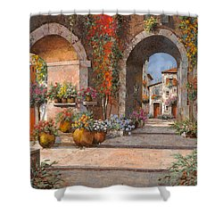 Archi E Sotoportego Shower Curtain by Guido Borelli