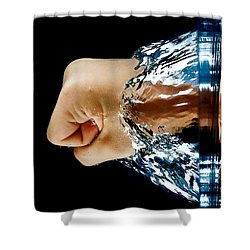 Archimedes Principle Shower Curtain