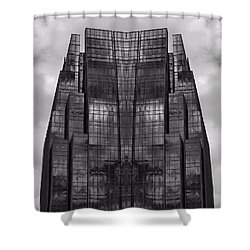 Architect's Dream Black And White Shower Curtain by Dan Sproul
