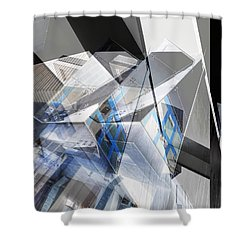 Architectural Abstract Shower Curtain by Wayne Sherriff
