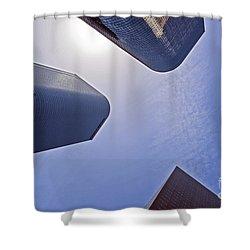 Architectural Bunker Hill Financial District Shower Curtain by David Zanzinger