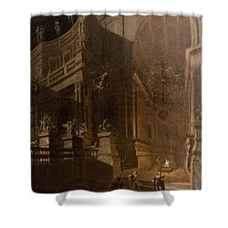 Architectural Fantasy With Figures Shower Curtain by Stefano Orlandi