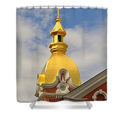 Architecture - Golden Cross Shower Curtain by Liane Wright