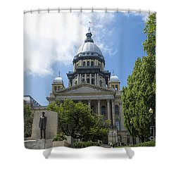 Illinois State Capitol  - Luther Fine Art Shower Curtain