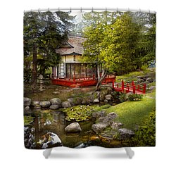 Architecture - Japan - Tranquil Moments  Shower Curtain by Mike Savad