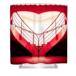 architecture's valentine - redI Shower Curtain by Hannes Cmarits