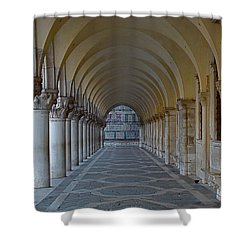 Archway In Piazza San Marco Shower Curtain by Rita Mueller