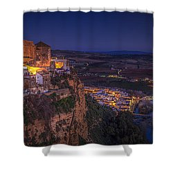Arcos De La Frontera Panorama From Balcon De La Pena Cadiz Spain Shower Curtain
