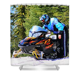 Arctic Cat Snowmobile Shower Curtain