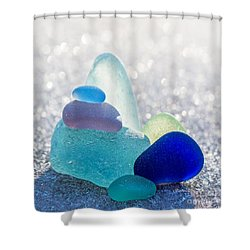 Arctic Peaks Shower Curtain by Barbara McMahon