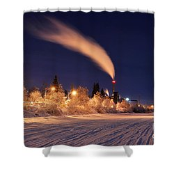 Arctic Power At Night Shower Curtain