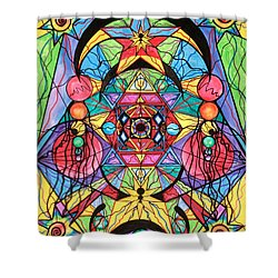 Arcturian Ascension Grid Shower Curtain