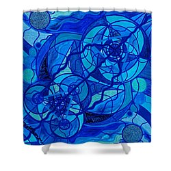 Arcturian Calming Grid Shower Curtain