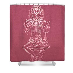Shower Curtain featuring the drawing Ardhanarishvara II by Michele Myers
